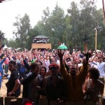 the crowd at Sehbune, Saturday 6am. Fusion 2012