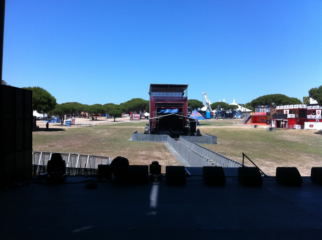 The stage in Lisbon